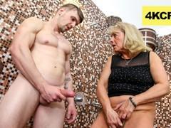 Cfnm - granny rubs hot jizz onto her worn-out pussy, Amateur, Big Dick, Blonde, Blowjob, Handjob, Hardcore, Masturbation, Mature movies at find-best-babes.com
