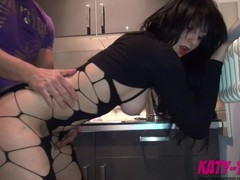 Cheating slut fucks her new neighbour in the kitchen and tastes his cum - katy , Amateur, Big Ass, Babe, Big Tits, Blowjob, Cumshot, Hardcore, German, Exclusive, Verified Amateurs videos