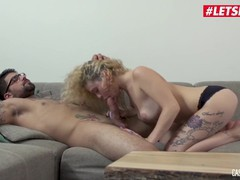 Letsdoeit - curly headed french hottie drilled hard at casting, Big Dick, Blonde, Hardcore, Pornstar, Small Tits, French tubes