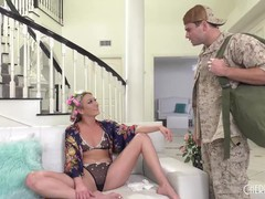 Step son comforts hot blonde step mom with his cock after his dad leaves her, Blonde, Blowjob, Hardcore, MILF, Pornstar, Small Tits, Squirt, Pussy Licking movies at freekilosex.com
