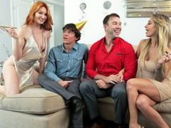 To swap family my new years resolution is to get creampied by swap dad or swap brother s2:e3, Blonde, Blowjob, Handjob, Pornstar, Red Head tubes