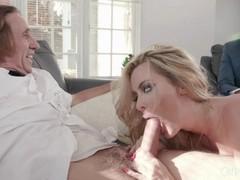 Big tit blonde milf deepthroats her milkman and cucks her wimpy husband, Big Tits, Blonde, Blowjob, Hardcore, Masturbation, MILF, Pornstar, Pussy Licking, Cuckold tubes
