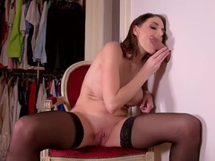 Glory hole in dressing room lead to dick sucking action with marie clarence, Fetish, Pornstar movies
