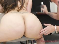 48 inch ass worship - alycia starr femdom, Big Ass, BBW, Brunette, Fetish movies at freekiloclips.com