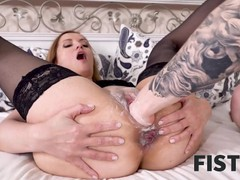Fist4k. morning sex with pretty chick turns into passionate anal fisting, Blonde, Fetish, Fisting, Anal, Teen (18+) tubes