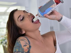 Curvy milf ivy lebelle lets you cover her pussy with whipped cream, Big Ass, Big Dick, Big Tits, Brunette, Blowjob, Cumshot, Hardcore, MILF, Pornstar tubes