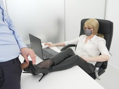 Office lady gives her colleague a footjob blowjob and rimjob! he cums on her gorgeous legs, Amateur, Big Dick, Big Tits, Handjob, Masturbation, Anal, Feet, Verified Amateurs movies at freekiloclips.com