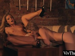 Beautiful blonde lesbians fuck each other at a bar, Babe, Big Tits, Blonde, Fetish, Lesbian, Pornstar, Anal, Teen (18+), Pussy Licking tubes