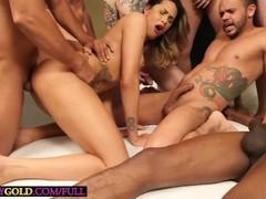 Big tits blonde latina tranny belatrix anal sex in a gangbang orgy fuck, Orgy, Blonde, Blowjob, Latina, Anal, Transgender, 60FPS movies