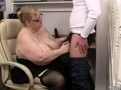 Huge boobs lady boss with glasses rides his cock, BBW, Big Tits, Blonde, Hardcore, Mature, MILF, Reality, Czech movies at freekiloporn.com