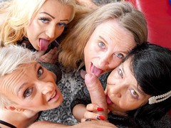 Four grannies play with a meat stick, Big Dick, Blowjob, Fetish, Handjob, Mature, POV, Old/Young movies at find-best-babes.com