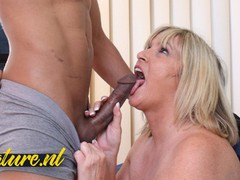 Busty british granny seduced the window cleaner into fucking her, Amateur, Big Tits, Blonde, Hardcore, Interracial, Mature, British, Pussy Licking movies at freekilomovies.com