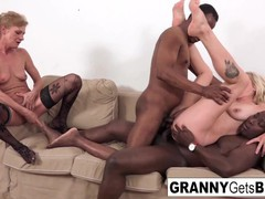 A couple of horny grannies get fucked in the ass by bbc!, Big Dick, Cumshot, Interracial, Mature movies at find-best-babes.com
