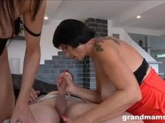 Hot milf and old granny share 1 cock, Big Tits, Blowjob, Hardcore, Mature, MILF, Threesome, Old/Young movies at find-best-babes.com
