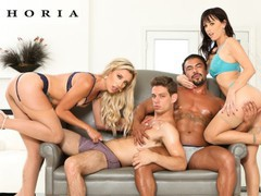 Biphoria - bisexual swingers trade partners in group sex, Orgy, Big Dick, Big Tits, Brunette, Blowjob, MILF, Anal, Bisexual Male, Pussy Licking movies
