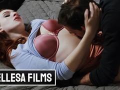 Bellesa - shy maya kendrick takes a nice fuck & cumshot on her hairy pussy, Big Dick, Big Tits, Hardcore, Pornstar, Red Head movies at freekilomovies.com