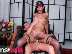 Transbella - priscylla modella sexy italian tranny hardcore anal with her lover, Big Dick, Blowjob, Cumshot, Hardcore, Anal, Transgender, Italian, Trans Male movies at kilomatures.com