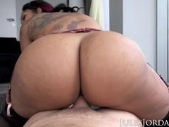 Jules jordan - dominican babe mary jean shows off her voluptuous curves, Big Ass, Big Tits, Blowjob, Cumshot, Hardcore, Interracial, Pornstar movies