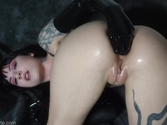 Charlotte anal fisting in latex, Brunette, Fetish, Fisting, Toys, Pornstar, Anal, Small Tits, Verified Models tubes