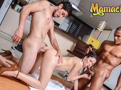 Herbigass - melina flor latina colombiana banged hard by two guys in hot threesome, Big Ass, Blowjob, Cumshot, Hardcore, Latina, Teen (18+), Small Tits, Threesome movies at find-best-babes.com