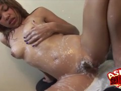 Thai babe nok soapy massage action, Asian, Babe, Handjob, Small Tits movies