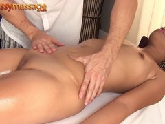 Amateur thai girl gets a massage and a hard dick, Asian, Brunette, Blowjob, Hardcore, Reality, Small Tits, Massage videos