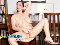 Europemature busty british mature eve jayne solo masturbation, Masturbation, British movies at freekilomovies.com