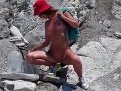 Outdoor sex. nudist girl masturbates, pisses, sucks cock and swallows cum, Blowjob, Cumshot, Masturbation, Public, Small Tits, Russian, Verified Amateurs, Pissing movies at find-best-panties.com