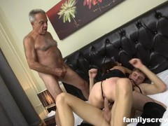 father and stepson pounding an old bitch, Amateur, Big Dick, Blowjob, Hardcore, Threesome, Old/Young tubes