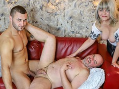 Old couple tries cuckolding, Big Dick, Blowjob, Fetish, Anal, Threesome, Bisexual Male, Old/Young videos