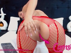 Camster - jenna silverstone - asian hottie in red stockings slides two toys in her creamy pussy, Asian, Amateur, Blowjob, Toys, Anal, Webcam, Double Penetration videos