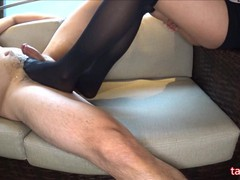 Foot job with knee high socks(side cam), POV, Feet, Japanese, Verified Amateurs movies at freekiloclips.com
