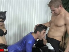 Catwoman makes superman suck cock and fucks his ass with big strapon, Cumshot, Fetish, Anal, Threesome, Bisexual Male, Verified Models, Cosplay tubes