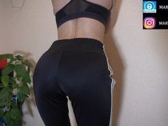 Horny babe in sports joggers, Amateur, Big Ass, Babe, Brunette, Fetish, Small Tits, Exclusive, Verified Amateurs movies at kilomatures.com