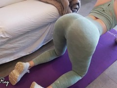 Nympho stepsister fucked and creampied in ripped yoga pants while working out, Big Ass, Babe, Big Dick, Blonde, Creampie, POV, Verified Amateurs videos
