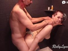 Rubylynne gets sensual scalp massage and rewards partner with kinky shower sex, Amateur, Big Ass, Big Tits, Blowjob, Hardcore, Mature, MILF, Red Head movies at freekilosex.com