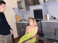 Mature4k middle-aged woman just wanted to take shower but was nailed, Blonde, Blowjob, Mature, MILF, Russian movies at freekilomovies.com