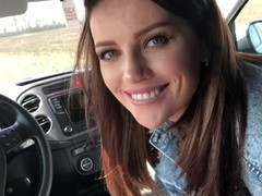 She gave her first blowjob in the car, Babe, Blowjob, Cumshot, Fetish, Public, POV, German, Exclusive, Verified Amateurs movies at freekilomovies.com