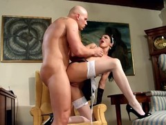 Leggy brunette naomi getting fucked in her maid uniform and black gloves, Big Dick, Brunette, Hardcore, Small Tits, Role Play movies