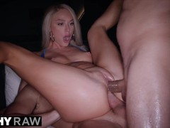 Tuhsyraw one cock isn't enough for dp-loving blondie, Blonde, Blowjob, Pornstar, Anal, Threesome, Double Penetration movies at kilopills.com