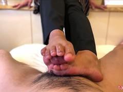 Japanese bare feet job, POV, Feet, Japanese, Verified Amateurs videos