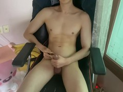 Cum shot in the chair and masturbate, Amateur, Big Dick, Cumshot, Handjob, Masturbation, Teen (18+), Solo Male, Exclusive, Verified Amateurs movies at find-best-lingerie.com