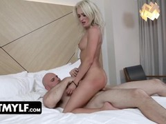 Muscular businessman gets submissive blonde in sexy lace lingerie as a welcum gift in his hotel room, Blonde, Bondage, Blowjob, Cumshot, Hardcore, Pornstar, Rough Sex, Role Play movies at freekiloporn.com