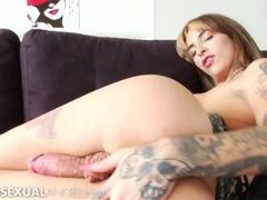 Inked trans blonde babe showing off her big dick - transsexualangel, Big Ass, Big Dick, Big Tits, Masturbation, Latina, Transgender movies at kilomatures.com