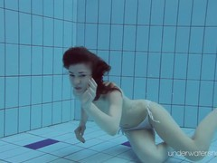 White swimsuit with tattoos babe roxalana cheh underwater, Babe, Brunette, Fetish, Public, Teen (18+), Small Tits, Czech videos