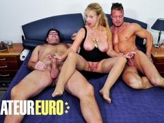 Xxxomas - mature german with big tits hardcore mmf threesome - amateureuro, Big Ass, Big Tits, Blowjob, Cumshot, Hardcore, Mature, Threesome, German movies at freekilosex.com