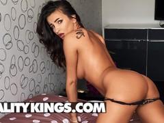 Reality kings - sensational alyssia kent talks dirty as she oils up her big boobs & rides her dildo, Big Ass, Big Tits, Brunette, Masturbation, Toys, Pornstar movies at kilopills.com