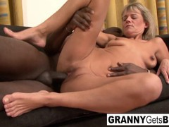 Blonde granny wants her pussy stuffed with black cock!, Amateur, Big Dick, Cumshot, Fetish, Hardcore, Interracial tubes