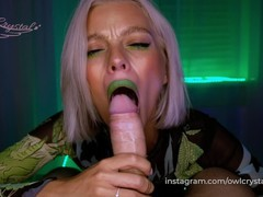 Slobbery blowjob by green dragon, Babe, Blonde, Blowjob, Teen (18+), POV, 60FPS, Exclusive, Verified Amateurs movies at freekilomovies.com