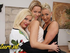 Sexy blonde girl gets seduced by two mature lesbians, Blonde, Lesbian, MILF, Pornstar, Threesome, Pussy Licking, Old/Young movies at nastyadult.info